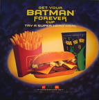 Batman Forever Cup  1996 Super Hero Meal DT