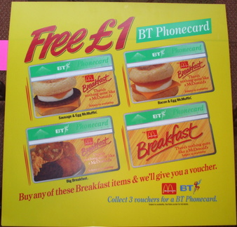 BT Phonecards issued  c1993