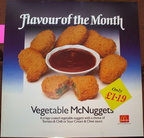 Flavour of the month Veg McNuggets c1990's