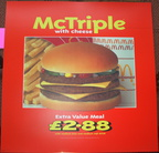 McTriple with cheese meal c1990's £2.88