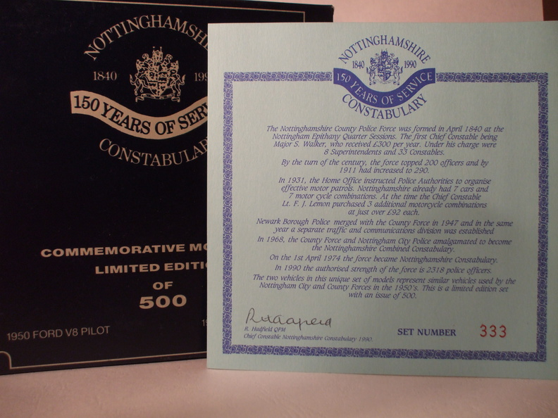 EPM Notts constab 150 years set No 333 insert and box.JPG