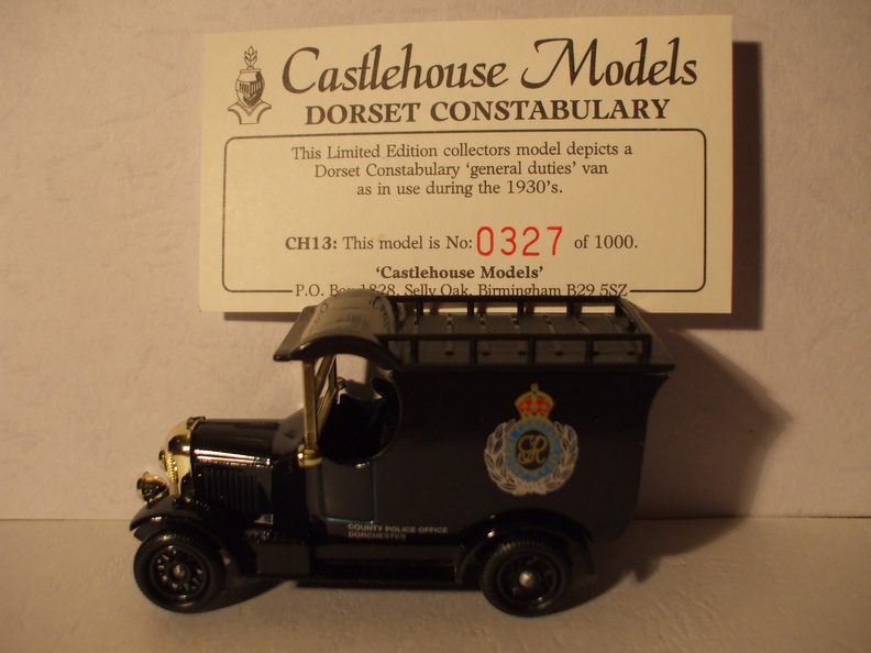 CH 13 Dorset Constabulary No 327 of 1000.JPG