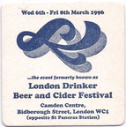 1996 Formerly London Drinker B & C Fest a