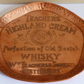 Teachers Highland Cream drinks tray 1930's