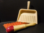 Betterwear wooden brush and dustpan