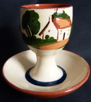 Devon Motto Ware egg cup