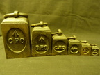 GPO set of 6 block shaped weights