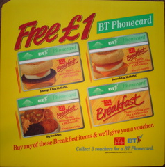 BT Phonecards issued  c1993 DT
