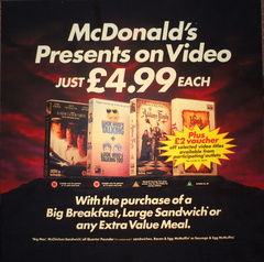 McDonalds presents on video (with meals) DT