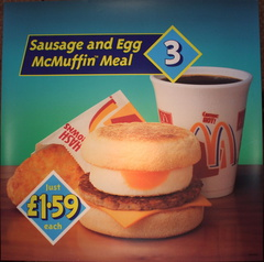 Meal 3 Sausage & Egg McMuffin Meal DT