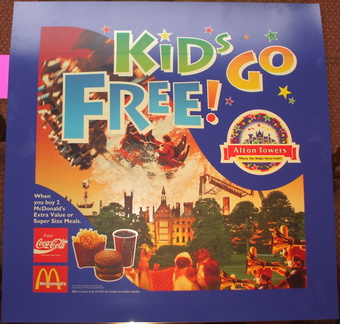 Alton Towers Kids Go Free 1995