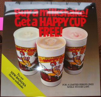 Happy Cup Free buy a milkshake issued c1983