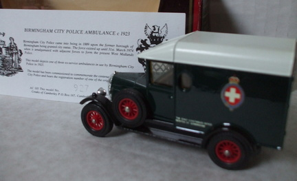 AC 105 Birmingham City Police Ambulance c1923 No 927