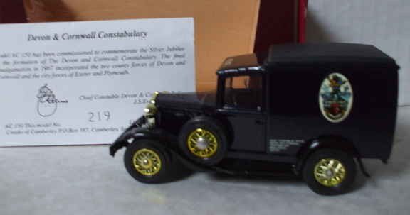 AC 150 Devon and Cornwall Constabulary No 219