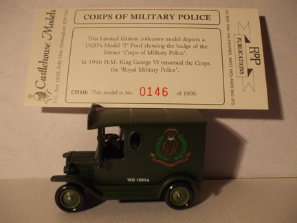 CH 10 Corp of Military Police No 146 of 1000