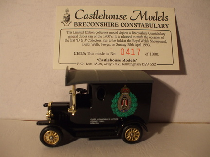 CH 15 Breconshire Constabulary No 417 of 1000