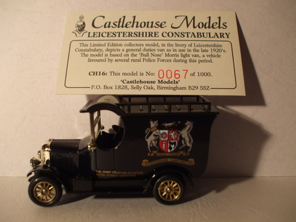 CH 16 Leicestershire Constabulary No 67 of 1000
