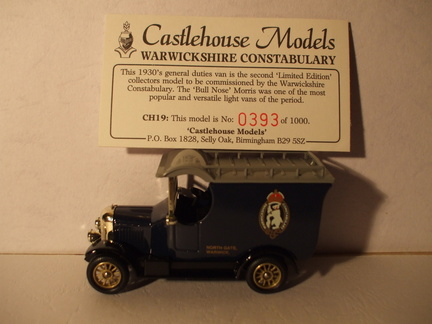 CH 19 Warwickshire Constabulary No 393 of 1000