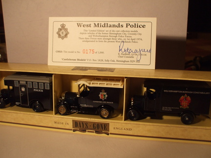 CHS 3 West Midlands Police set No 175 of 1000