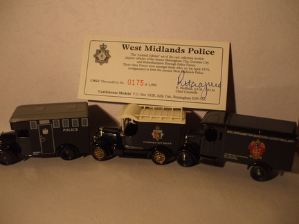 CHS 3 West Midlands Police set unboxed