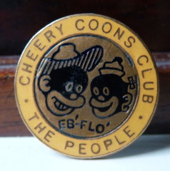 Cheery Coons Club badge 1920's