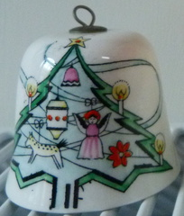 Crown Staffordshire ceramic Christmas tree bauble