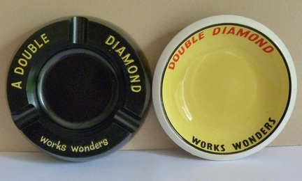 Double Diamond ashtrays