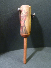 A babies hollow wood rattle