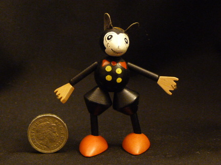 Mickey Mouse - wooden jointed Vintage toy