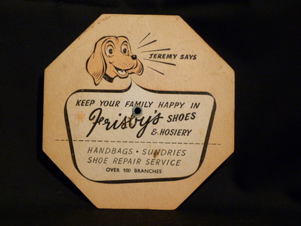 Frisby's Shoes and Hosiery novelty front