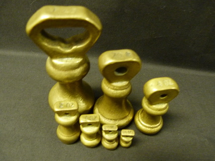 Brass weights - set of 7