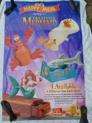 Window poster for The Little Mermaid promotion
