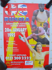 Poster for Athletics event in 1995 sponsored by McDonalds