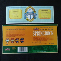 Lot 2 - 6 Oct 2020 Wrap-around Beer labels, some on backing paper